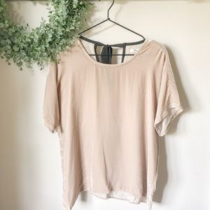 Madewell Velvet Top in Beige